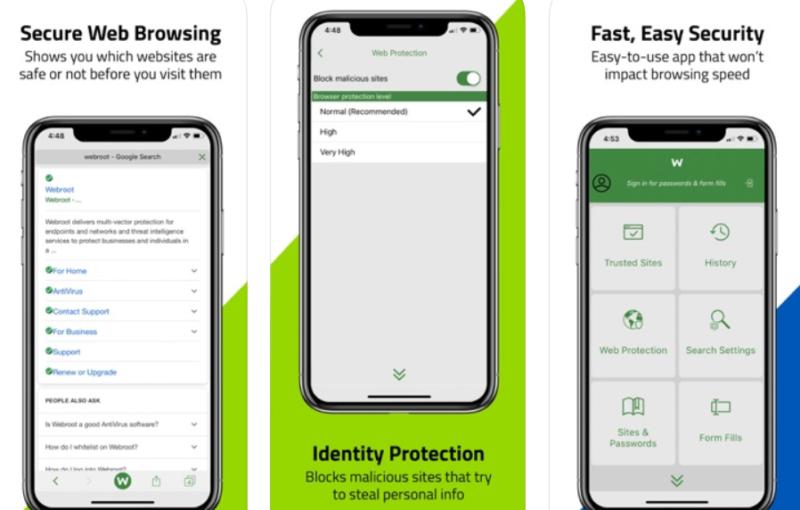 Webroot SecureWeb Browser APP