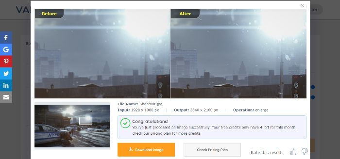 City enlarged Image sample